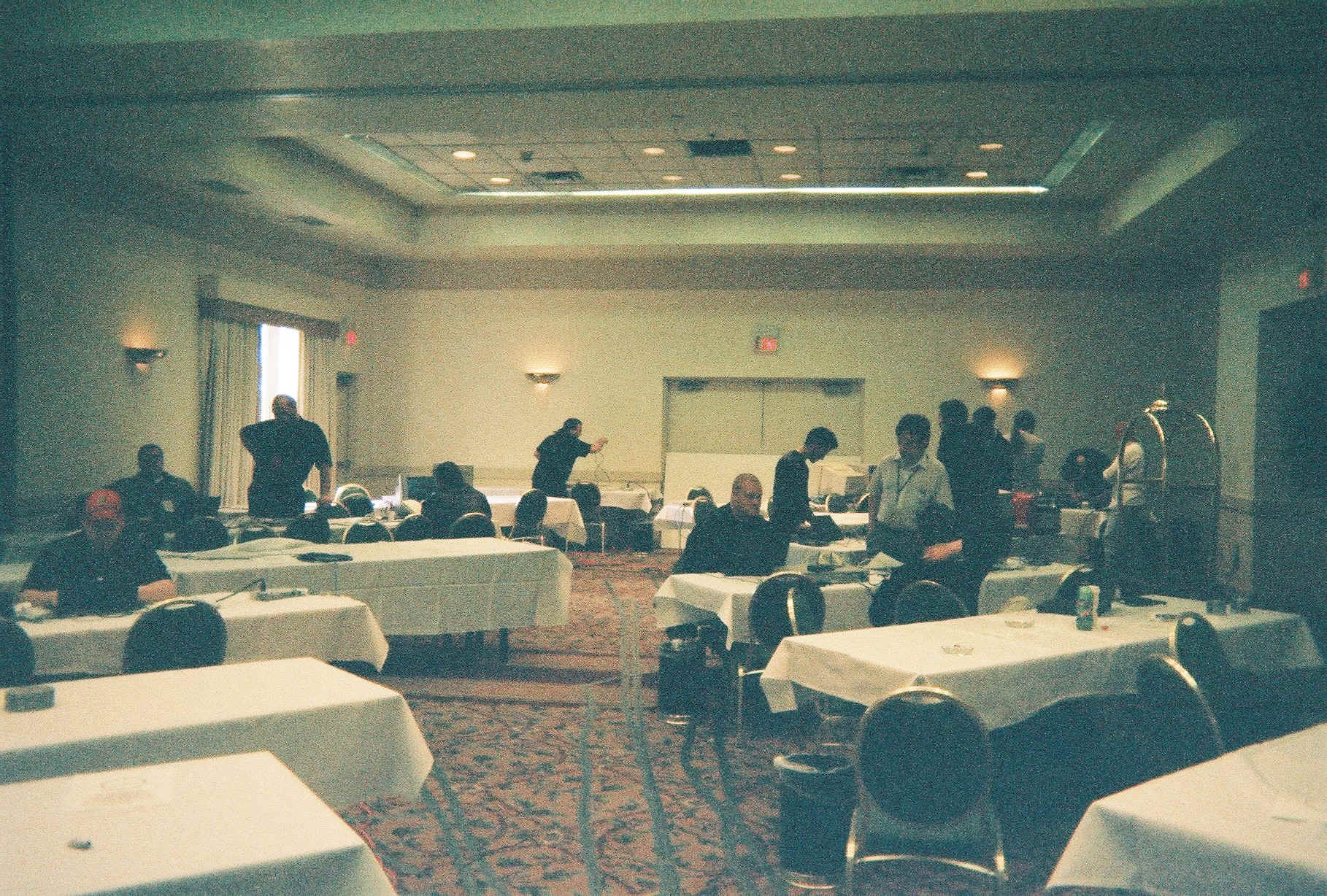Networking room early Friday